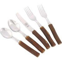 Hickory Flatware with Polished Ends