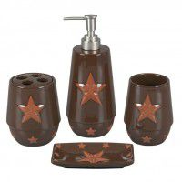 Rust Western Star Bathroom Set