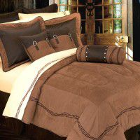 Embroidered Barbwire Comforter Set