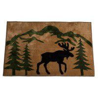 Mountain Moose Kitchen and Bath Rug