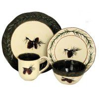 Pine Cone Dinnerware and Serving Pieces