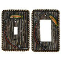 Gone Fishing Switch Plates