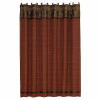 Cascade Lodge Bear Shower Curtain
