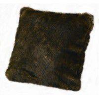 Faux Fur Pillow - Brown Mink