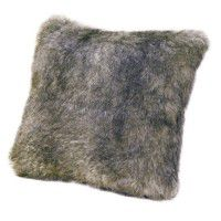 Faux Fur Pillow - Chinchilla
