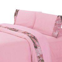 Pink Camo Border Sheets