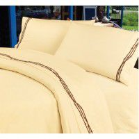 Cream Embroidered Barbwire Sheets