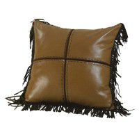 Four Patch Fringed Pillow