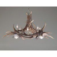 Majestic Moose and Elk Faux Antler Chandelier  sc 1 st  The Cabin Shop & Reproduction and Faux Antler Lighting Fixtures. azcodes.com