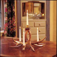 4 Candle Whitetail Candelabra