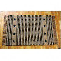 Black Vintage Star Rug