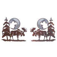 Moose and Pine Curtain Rod Brackets & Tie Backs