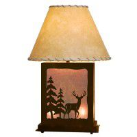 Scenic Deer Table Lamp