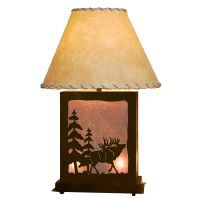 Scenic Elk Table Lamp