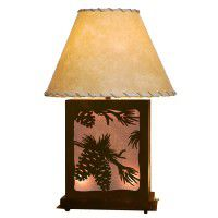 Scenic Pine Cone Table Lamp