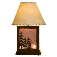 Scenic Skier Table Lamp