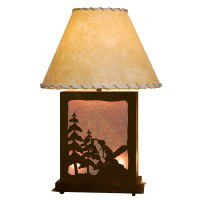 Scenic Snowboarder Table Lamp