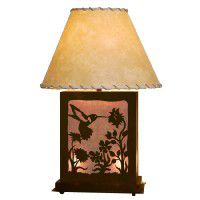 Scenic Hummingbird Table Lamp