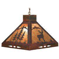 Deer & Pine Tree Pendant Light