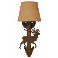 Bent Arrow Elk Sconce