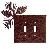 Pinecone Switch Plates