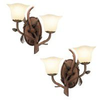 Ponderosa 2 Light Sconces