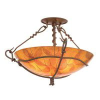 Buddha Leaf & Vine Semi Flush Ceiling Light