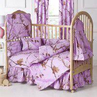 Lavender Camo Baby Bedding
