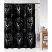 Bone Collector Black and Grey Shower Curtain