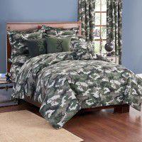 Buckmark Green Camo Comforter Set