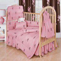 Buckmark Pink Baby Bedding