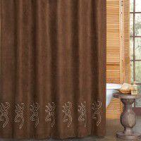 Buckmark Embroidered Shower Curtain