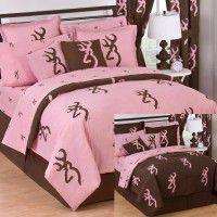 Pink Buckmark Bedding