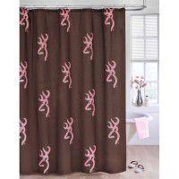 Pink Buckmark Shower Curtain