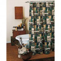 Dogs and Ducks Shower Curtain - CLEARANCE
