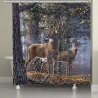 Cold Snap   Deer Shower Curtain