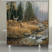 Wild Whitetail Deer Shower Curtain