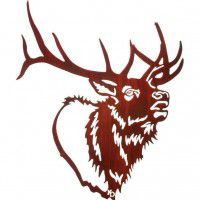 Bugle Boy Elk Metal Wall Art
