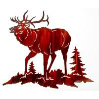 Bull Ridge Elk Metal Wall Art