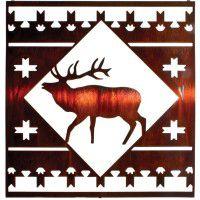 Elk Lodge Square Metal Wall Art
