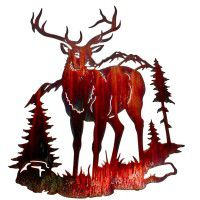 Elk Mountain Metal Wall Art