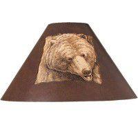 Rustic Metal Bear Lamp Shade