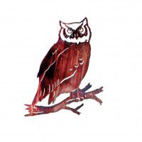 Great Horned Owl Metal Wall Art