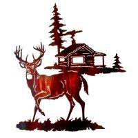 Gone Tomorrow Deer Metal Wall Art