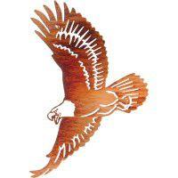 Eagle In Flight Metal Wall Art