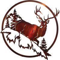 Last Look Elk Metal Wall Art