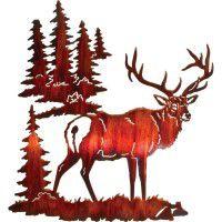 Solitude-Elk Metal Wall Art