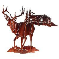 Still of the Night Elk Metal Wall Art