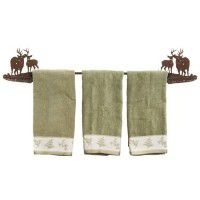 Buck and Doe Deer Towel Bar and Bath Accessories