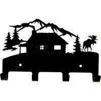 Log Cabin Coat Rack